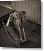The Horse On The Alley Of Pikku Pietari In Kuopio Metal Print
