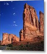 The Horses In The Rock Metal Print