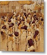 The Hounds Began Suddenly To Howl In Chorus  Metal Print