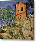 The House With Burst Walls Metal Print