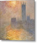 The Houses Of Parliament At Sunset Metal Print