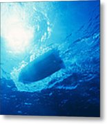 The Hull Of A Speed Boat Dingy Races Metal Print