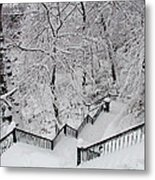 The Hundred Steps In The Snow Metal Print