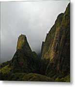 The Iao Needle Metal Print
