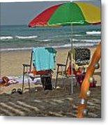 The Idyll On The Mediterranean Shore Metal Print