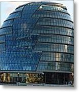 The Imposing Glass Greater London Mayoral Building On The Banks Of The Thames Metal Print