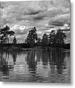 The Island In The Midlle In Bw Metal Print