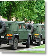 The Iveco Lmv Of The Belgian Army Metal Print