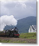 The Jacobite Express At Lochailort Church Metal Print