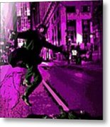 the Joker about to Pounce Metal Print