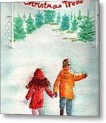 The Joy Of Selecting A Christmas Tree Metal Print by Sharon Mick