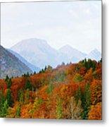 The Julian Alps In Autumn At Lake Bohinj Metal Print