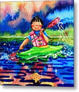 The Kayak Racer 11 Metal Print