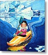 The Kayak Racer 13 Metal Print