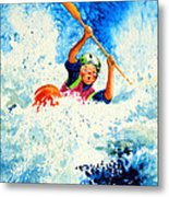 The Kayak Racer 16 Metal Print by Hanne Lore Koehler