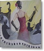 The Lady And Jazz Metal Print by Janna Columbus