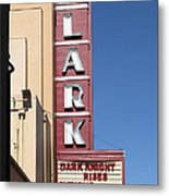 The Lark Theater In Larkspur California - 5d18490 Metal Print
