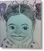 The Late Jahessye Shockley Metal Print by Charita Padilla