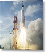 The Launch Of The Mercury-atlas 4 Metal Print