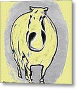 The Legend Of Fat Horse Metal Print