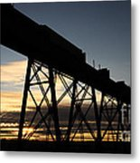The Lethbridge Bridge Metal Print