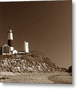 The Light At Montauk Point Metal Print