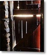 The Light Enters Barn Metal Print