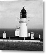 The Lighthouse At Dunnet Head Most Northerly Point Of Mainland Britain Scotland Metal Print