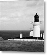 The Lighthouse At Dunnet Head Most Northerly Point Of Mainland Britain Scotland Uk Metal Print