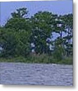 The Lighthouse At Lake Road Metal Print
