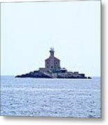 The Lighthouse Close To Primosten Metal Print