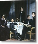 The Lincoln Family Metal Print
