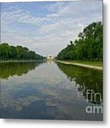 The Lincoln Memorial And Reflecting Pool Metal Print