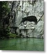 The Lion Monument In Lucerne Honouring The Swiss Soldiers Killed During French Revolution Metal Print
