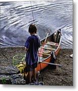 The Little Fisherman Metal Print