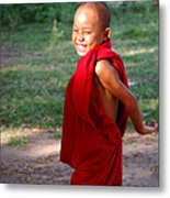 The Little Monk Of Mingun Metal Print by RicardMN Photography