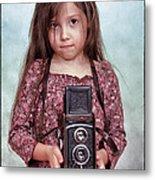 The Little Photographer Metal Print