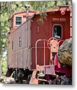 The Little Red Caboose Metal Print