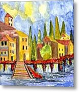 The Little Village Metal Print by Connie Valasco