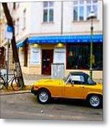 The Little Yellow Car Metal Print