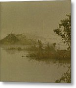 The Lodge In The Mist Metal Print