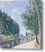 The Loing Canal At Moiret Metal Print