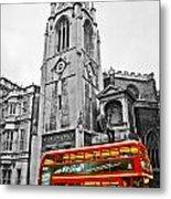 The London Bus Metal Print