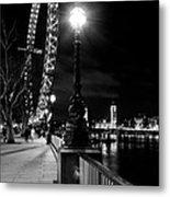 The London Eye At Night Metal Print