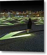 The Lonely Tourist At Pentagon Memorial Metal Print by Metro DC Photography