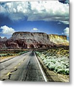 The Long And Lonely Road Metal Print by Ellen Heaverlo