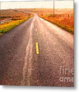 The Long Road Home . Painterly Style Metal Print