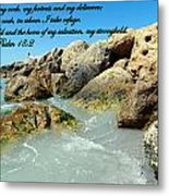 The Lord Is My Rock Metal Print