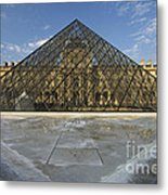 The Louvre Pyramid Paris Metal Print