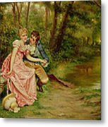 The Lovers Metal Print by Joseph Frederick Charles Soulacroix